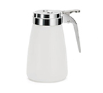 Tablecraft MW10CP 10-oz White Polyethylene Dispenser w/ Chrome Plated ABS Top