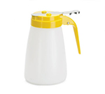 Tablecraft MW10Y 10-oz White Polyethylene Dispenser w/ Yellow ABS Top