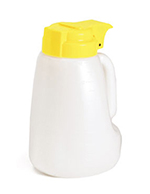 Tablecraft MW32Y 32-oz Polyethylene Option Dispenser w/ Yellow ABS Top