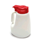 Tablecraft MW48R 48-oz Polyethylene Option Dispenser w/ Red ABS Top