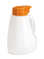 Tablecraft MW48X 48-oz Polyethylene Option Dispenser w/ Orange ABS Top