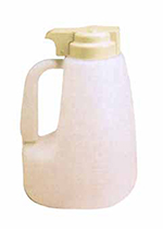 Tablecraft MW64BE 64-oz Polyethylene Option Dispenser w/ Beige ABS Top