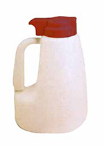 Tablecraft MW64M 64-oz Polyethylene Option Dispenser w/ Maroon ABS Top