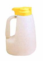 Tablecraft MW64Y 64-oz Polyethylene Option Dispenser w/ Yellow ABS Top