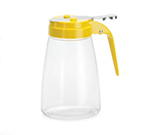 Tablecraft P10Y 10-oz Polycarbonate Dispenser w/ Yellow ABS Top