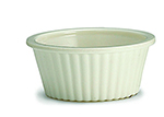 Tablecraft RAM1FB 1-oz Fluted Bone Melamine Ramekin