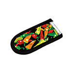 Lodge HH12 Hot Handle Mitt, Multicolor Pepper Print on Black