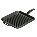 Lodge P12SGR3 Pro-Logic Square Grill Pan, 12 in,  Pre-Seasoned Cast Iron
