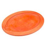 Lodge UOPB9 Tangerine Orange Oval Wood Underliner, 11-3/4 in L x 9-1/4 in W x 3/4 in H