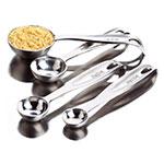 Focus 8441 Measuring Spoon Set, 4 Piece, 1/4, 1/2, 1 teas & 1 T Spoons, SS