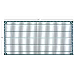 Focus FF1824G Green Epoxy Coated Shelving, 18 in D x 24 in W