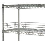 Focus FL244C Shelf Ledges, Chrome, 24 in W x 4 in H