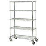 Focus FMK2160695CH Utility Cart w/ 5-Shelves & 1,200-lb Capacity, 21 x 60 x 69-in, Chromate