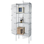 Focus FSEC183663 Security Cage, Chrome Plated, 18 in D x 36 in L x 64 in H, Cage Only
