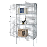 Focus FSEC184863 Security Cage, Chrome Plated, 18 in D x 48 in L x 63 in H, Cage Only