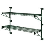 Focus FWPS33GN Wall Post Set, 33 in Post Height, Green Epoxy