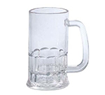 GET 00084-CL 12 oz. Beer Mug, SAN Plastic, Clear