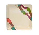 GET 252-18-CO 7 in x 7 in Plate, Melamine, Japanese Contemporary