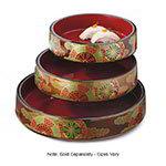 GET 3238-F 9-1/2 in Sushi Box, Melamine, Japanese Fuji