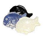 GET 370-12-BLU 12 in x 8-1/4 in Fish Platter, Melamine, Blue