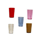 GET 5032-4-R 32 oz Short Tumbler, Textured, Stackable, Ruby