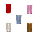 GET 6605-2-A 5 oz Tumbler, Textured, Stackable, Amber