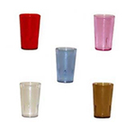 GET 6608-2-A 8 oz Tumbler, Textured, Stackable, Amber