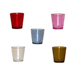 GET 6609-2-CL 9 oz Tumbler, Textured, Stackable, Clear