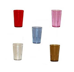 GET 6616-2-A 16 oz Tumbler, Textured, Stackable, Amber