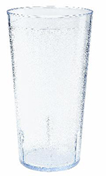 GET 6632-2-CL 32 oz Tall Tumbler, Textured, Stackable, Clear