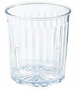 GET 8809-CL 9 oz Rocks, Textured, Stackable, Spektrum, Clear
