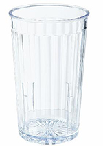 GET 8810-CL 10 oz Tumbler, Textured, Stackable, Spektrum, Clear