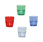 GET 9909-JA 9 oz Rock Tumbler, Stackable, Bahama, Jade