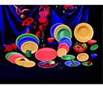 GET B-24-MIX 24 oz Bowl, 7-1/2 in, Melamine, Mardi Gras Mix