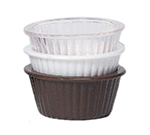 GET ER-402-BR 2 oz Ramekin, Fluted, Melamine, Brown