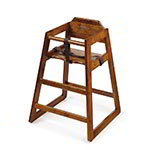 GET HC-100W-1 Assembled High Chair, Commercial Hardwood, Walnut (1 per box)