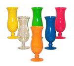 GET HUR-1-O 15 oz Plastic Hurricane Glass, Polycarbonate, Orange
