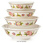 GET M-812-TR 52 oz Bowl, 8-3/4 in, Melamine, Dynasty Tea Rose