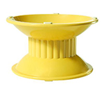 GET ML-107-TY 8.5 in x 7.7 in Pedestal, 3.15 in High, Melamine, Venetian Yellow
