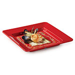 GET ML-12-RSP 12 in x 12 in Plate, Square, Melamine, Red Sensation