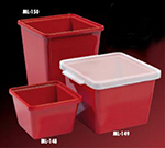 GET ML-148-RSP 28 oz Salad Crock, Square, Melamine, Red