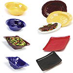 GET ML-131-BK 13 in Square Bowl, Black, Melamine, New Yorker