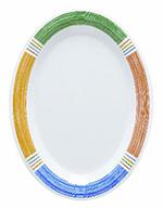 GET OP-950-BA 9-1/2 in x 7-1/4 in Oval Platter, Melamine, Barcelona