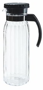 GET P-4050-CL 50 oz Beverage Decanter, Polycarbonate, Clear w/ Black Handle