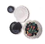 GET SH-10-W 10 in Shell Plate, Melamine, Diamond White