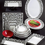 GET OP-621-SO 21 in Oval Catering Platter, Melamine, Soho