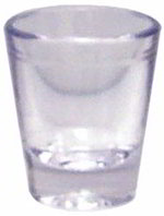 GET SW-1409-CL 1-1/2 oz Shot Glass, Lined, Clear, SAN Plastic