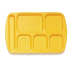 GET TL-151-BY School Tray, 6 Compartment, Left-Handed, Bright Yellow