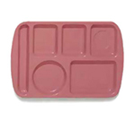 GET TL-151-MAV School Tray, 6 Compartment, Left-Handed, Mauve