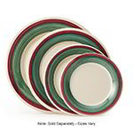 GET WP-10-PO 10-1/2 in Plate, Wide Rim, Melamine, Portofino